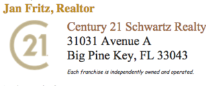 Jan Fritz contact information with Century 21 logo