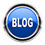 """Blue circle with the text """" Blog"""" in the center"""